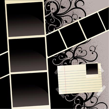 Grunge Plakboek Patroon
