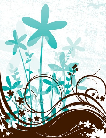 Grunge Floral Scene