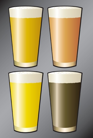 Beer Pints Illustration