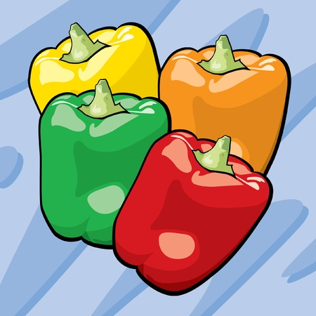 Bell Peppers Stock Vector - 12857549