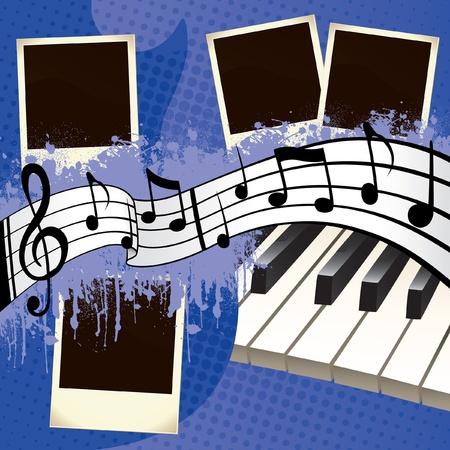 Music Scrapbook Stock Vector - 12857697