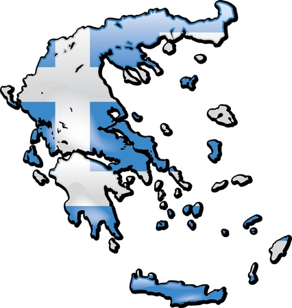 Map of Greece Vector