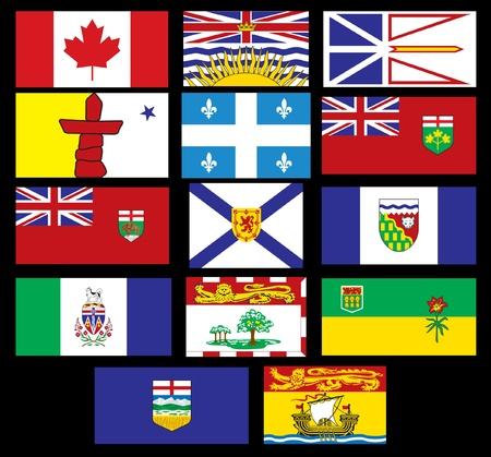 yukon: Canadian Flags
