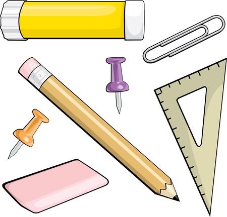 Kantoorartikelen Vector Illustratie