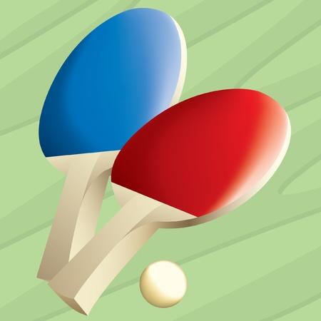 Tafeltennis Paddles Stock Illustratie