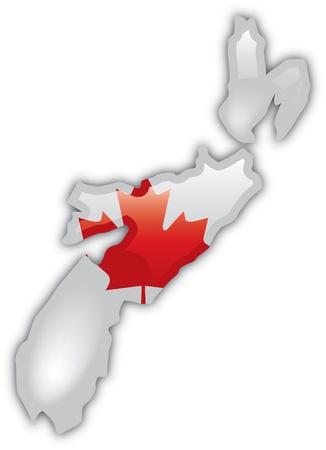 Gedetailleerde kaart van Nova Scotia