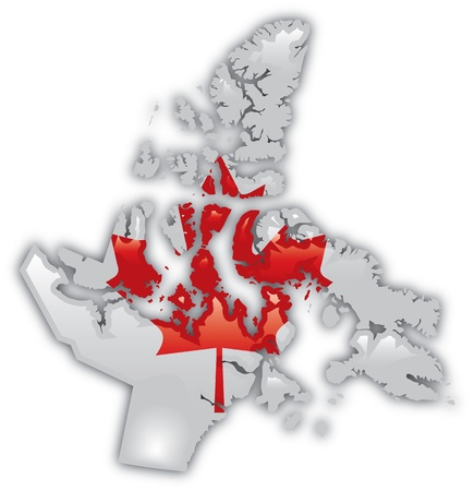 Gedetailleerde Kaart van Nunavut Stockfoto - 12857700