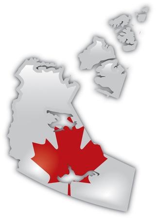 Gedetailleerde Kaart van Northwest Territories