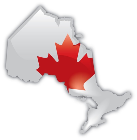 ontario: Mappa dettagliata di Ontario Vettoriali