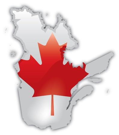 Gedetailleerde Kaart van Quebec Stockfoto - 12857694