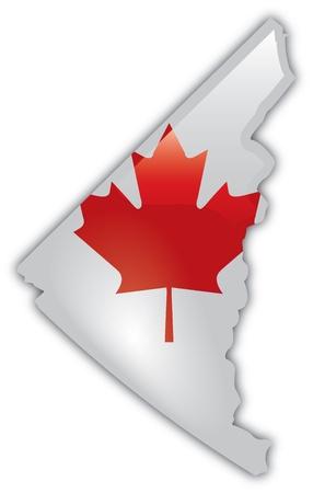 Gedetailleerde kaart van Yukon Stockfoto - 12857625