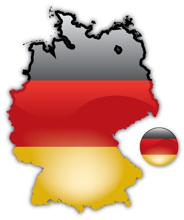 Gedetailleerde kaart van Duitsland
