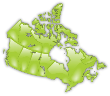 Detailed Map of Canada Vector