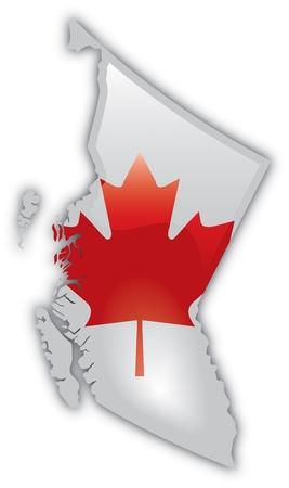 Gedetailleerde kaart van Brits Columbia