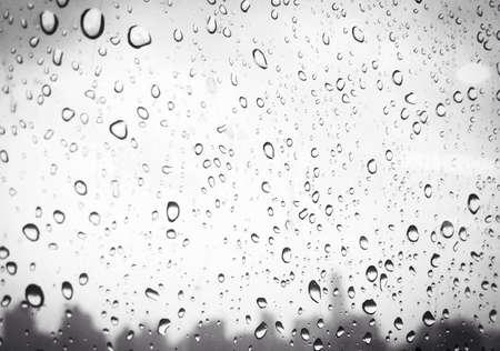 wet wallpaper: Raindrops on glass window Stock Photo