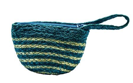 wickerwork: The blue wickerwork bag