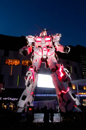 JAPAN - April 21th 2018 Light The legend of Gundam The real size model of Gundam robot in Odaiba, Tokyo 新聞圖片