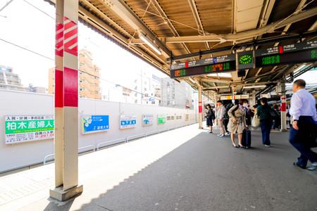 JAPAN - April 20th 2018 A Japan Railway train arriving in Japan