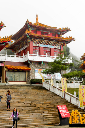 NANTOU, TAIWAN-Feb 20,2016: Visitors enjoy travel to Wenwu Temple in taiwan on JFeb 20,2016