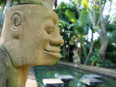 statuary garden: Sculpture in garden my resort Stock Photo