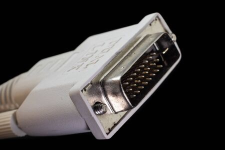 DVI digital dual link plug, also named DVI-D DL Banco de Imagens