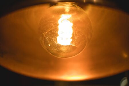 Abstract photo of a bulb with bright light