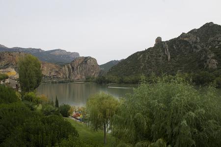 Pantano de Sant Llorens de Montgai Foto de archivo - 47173075