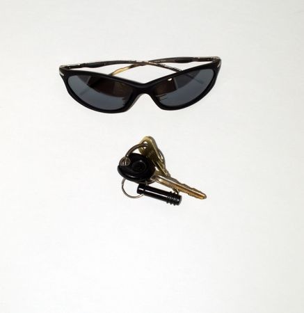 Sunglasses and keys