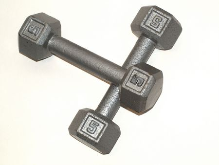 five pound barbells Stock fotó - 3500967