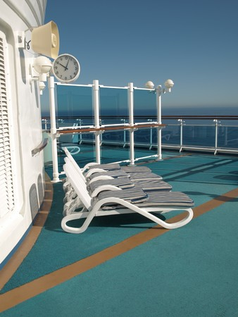 Cruise Ship Deck Stock fotó