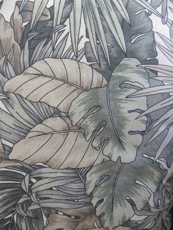 padding:  Cushion with tropical pattern used for background