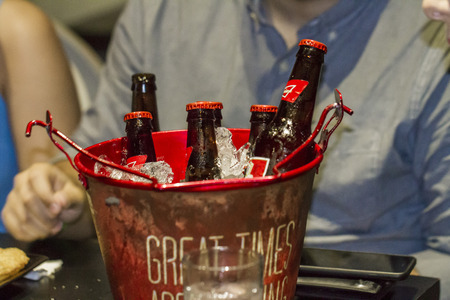 beer bucket: bucket of beer Editorial
