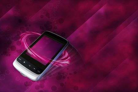 modern cell phone in luxury  bordaux background Stock Photo - 6196300
