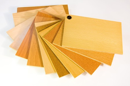 paint samples: catalog wood colors on white background