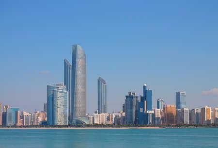 abu dhabi: Abu Dhabi Buildings Stock Photo