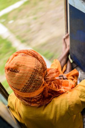 sadhu: Sadhu on the train