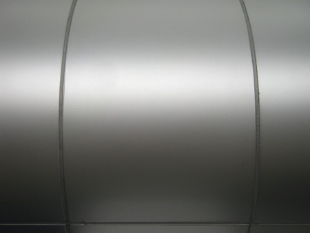 Polished curved metal background