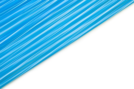 A pattern of blue drinking straw photo