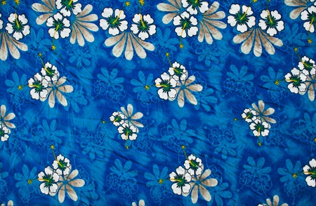 Blue clothing full with flowers pattern