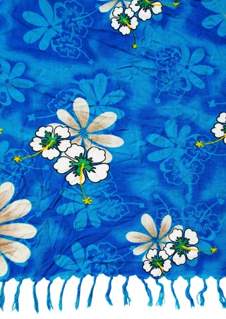 Blue clothing full with flowers pattern photo