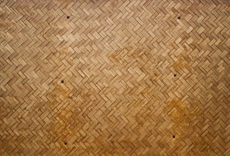 Wooden wall make from bamboo photo