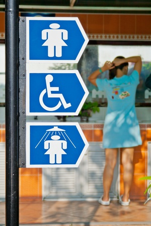 Signposts for woman Stock Photo - 12162834
