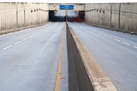 Underground tunnel passing through the road photo