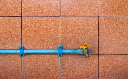 watertap: Public utility in bathroom of urban Thailand