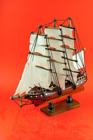 Wooden argosy model photo