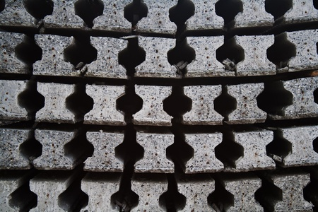 Front view of concrete pole pile Stock Photo - 12579444