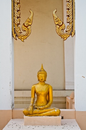The image statue of Buddha at Thailand temple photo