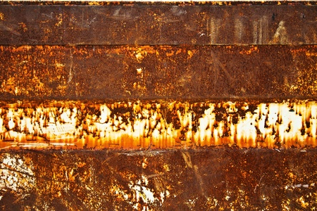 Rusty metal plate photo