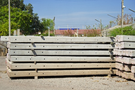 Side view of concrete electric pole piles Stock Photo - 13149490