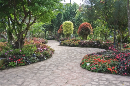Design flowery garden photo